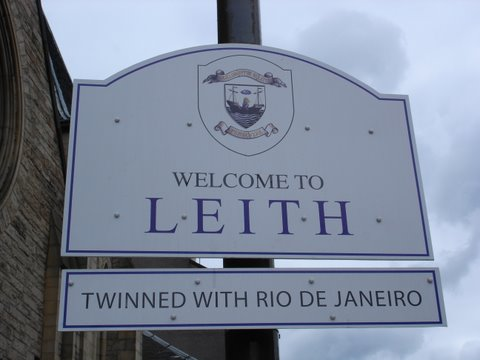 Leith, an area of Edinburgh twinned with Rio