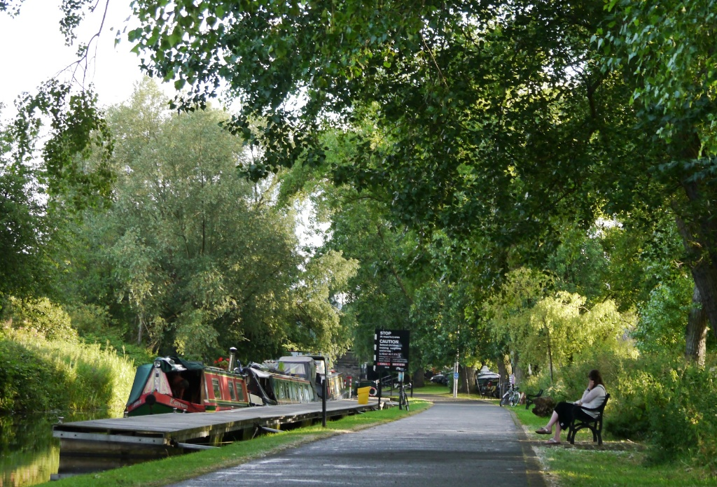 The Union Canal runs through the city
