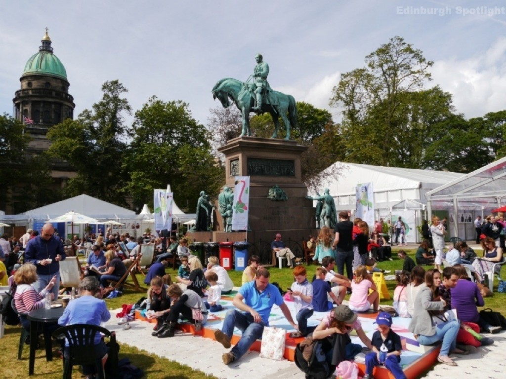 The Book Festival on a sunny day