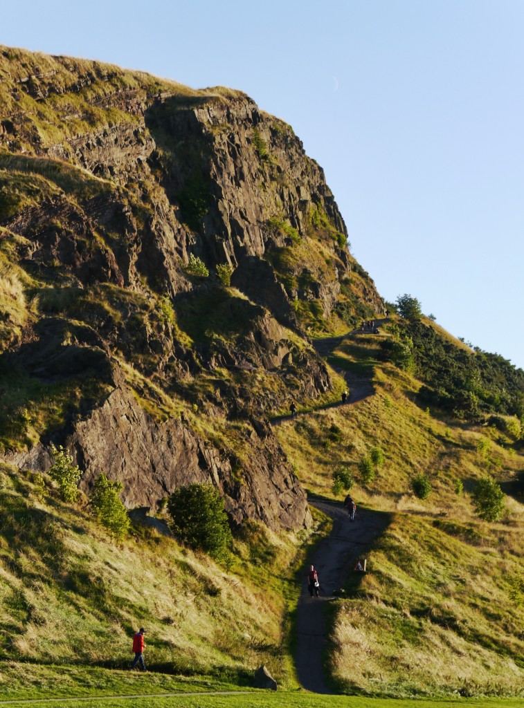 Salisbury Crags in the evening sunshine