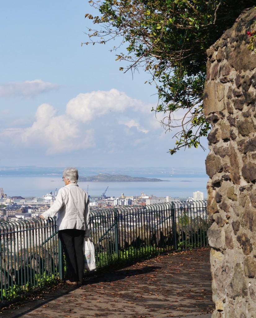 Enjoying the views of Edinburgh from Calton Hill