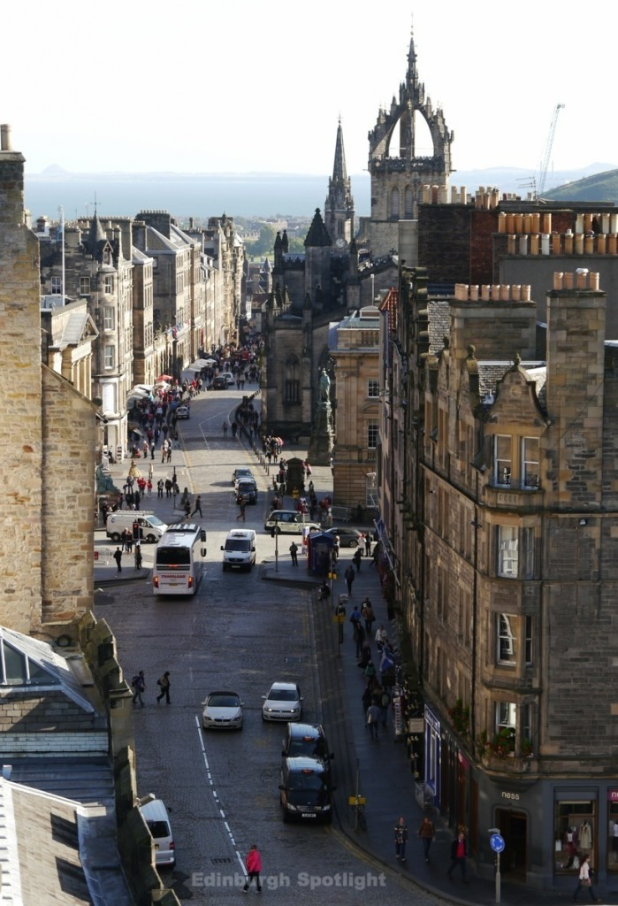 View down the Royal Mile from Camera Obscura