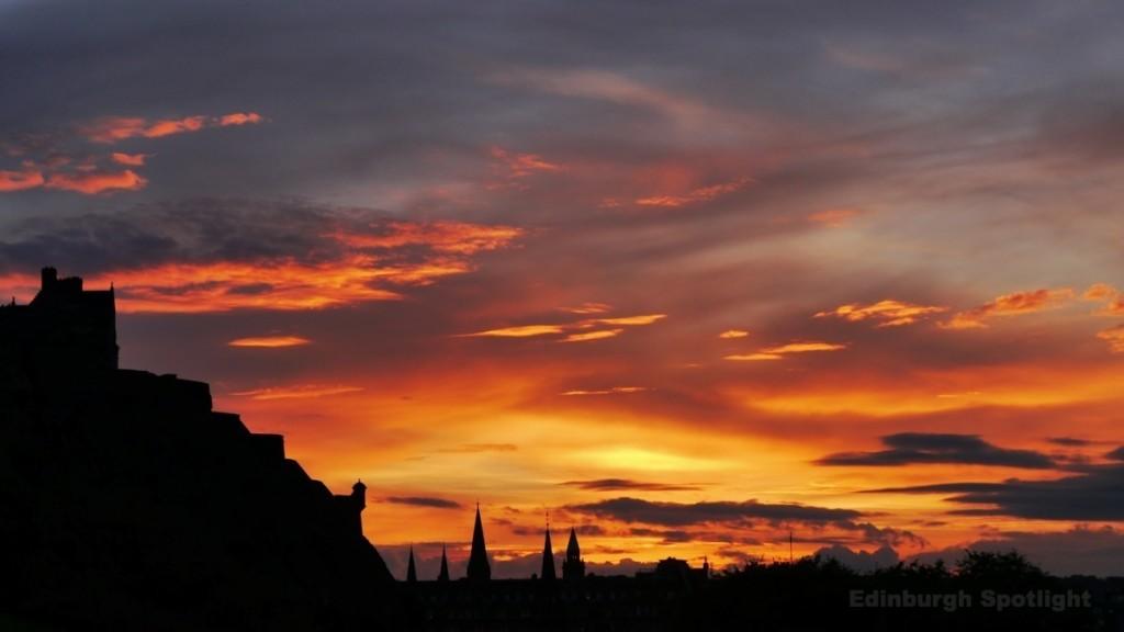 Edinburgh sunset, October