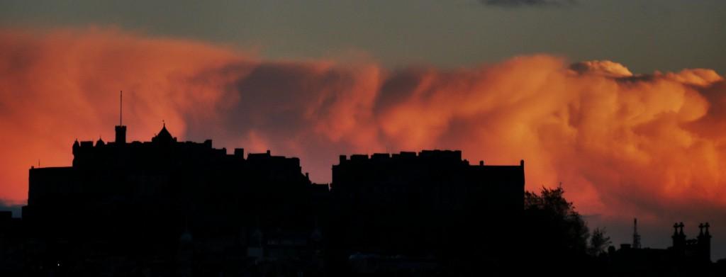 Edinburgh Castle from Ferry Road