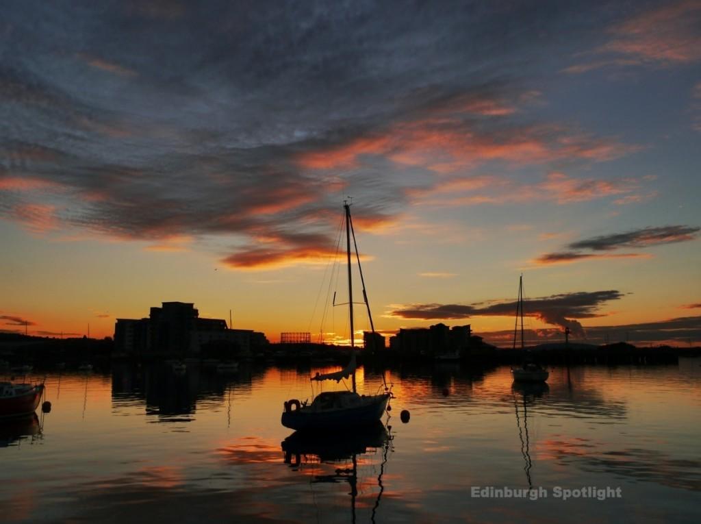 Granton Harbour sunset