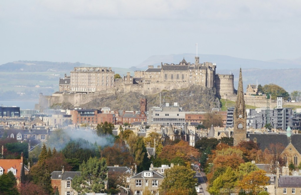 Edinburgh Castle from Blackford Hill