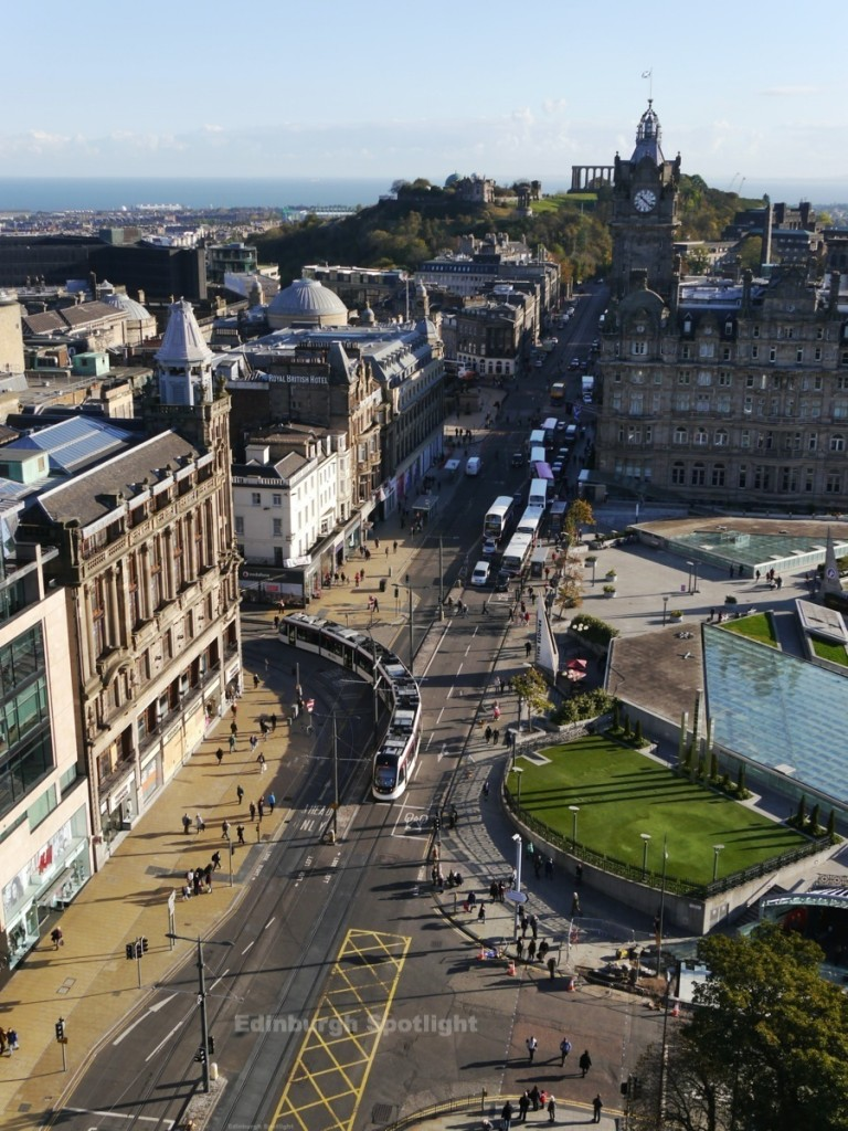 The view from the Scott Monument looking east