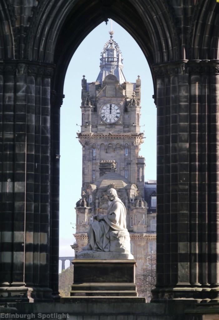 The Balmoral through the Scott Monument