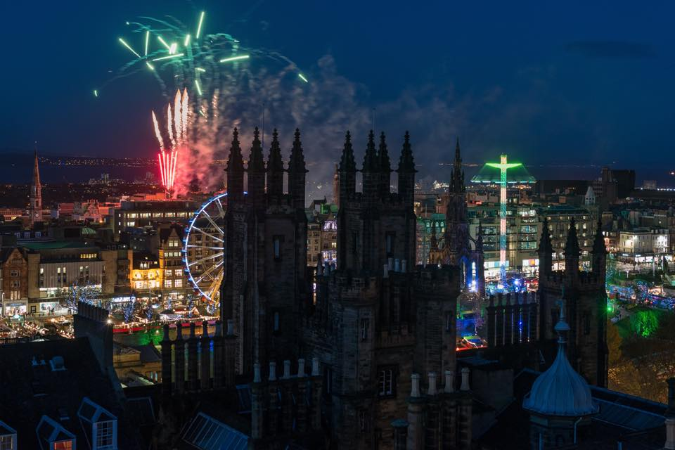 View from Camera Obscura of the Christmas lights