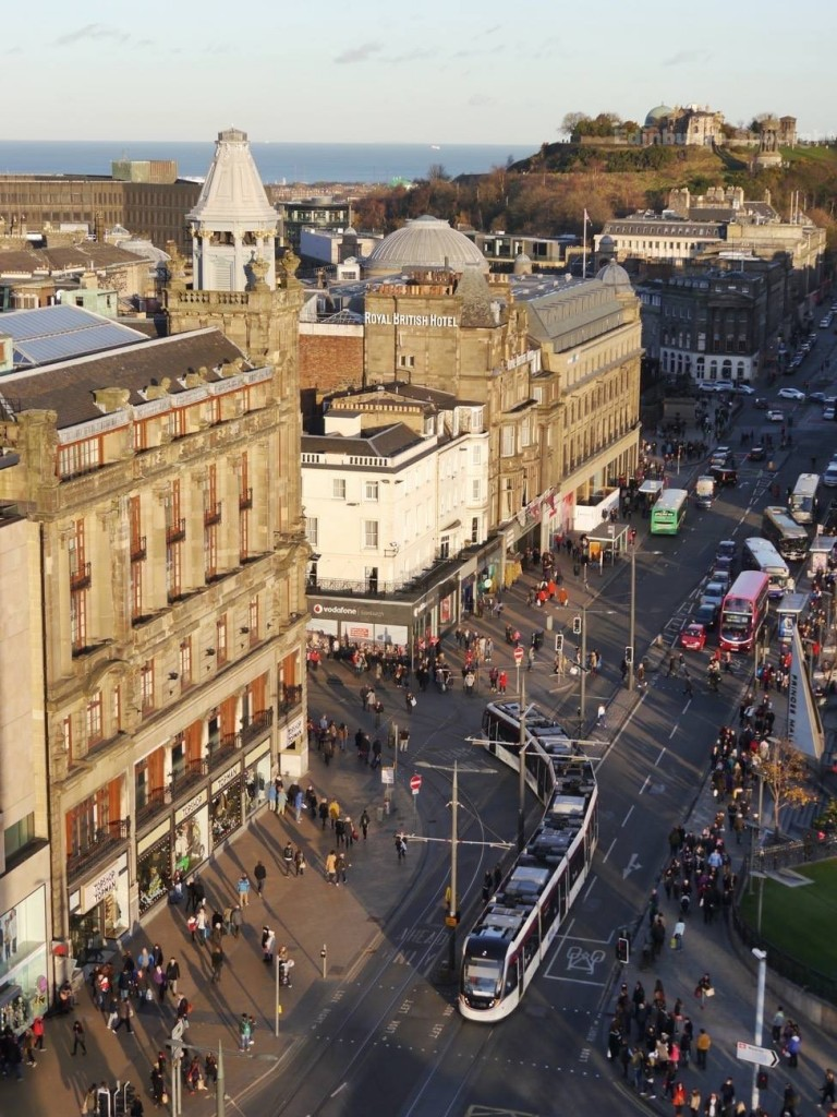 From the Scott Monument