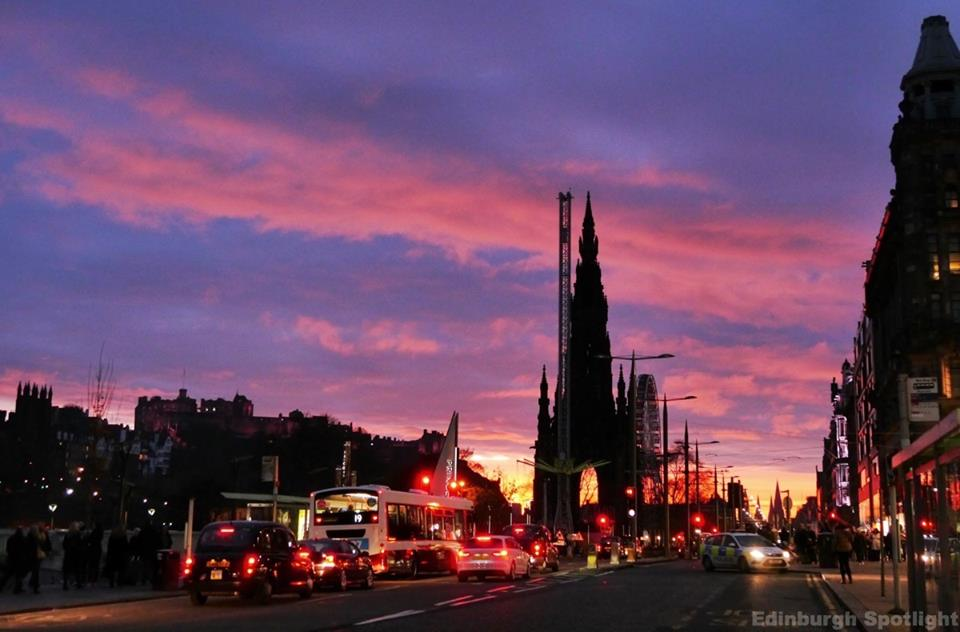 Princes Street at dusk