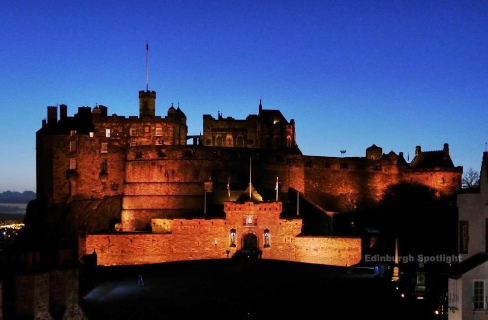 Edinburgh Castle at dusk from Camera Obscura