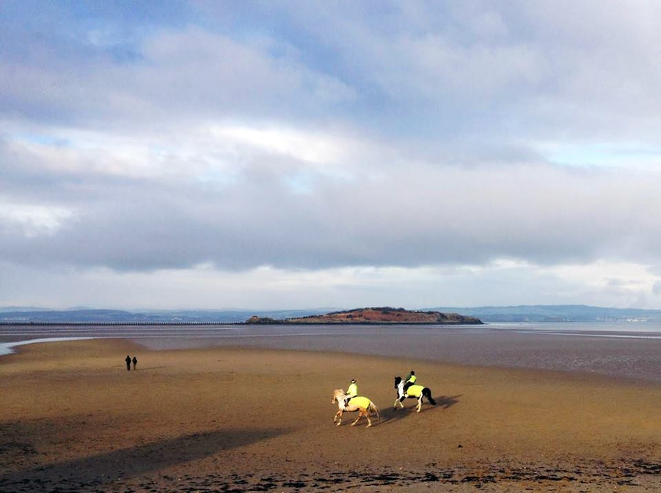 Horses on Cramond Beach