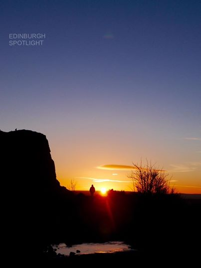 Sunrise from Salisbury Crags
