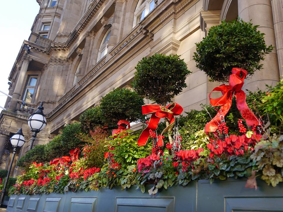 Decorations outside the Balmoral