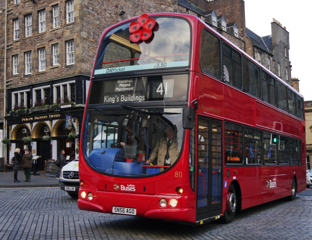 The bus in service on Remembrance Sunday