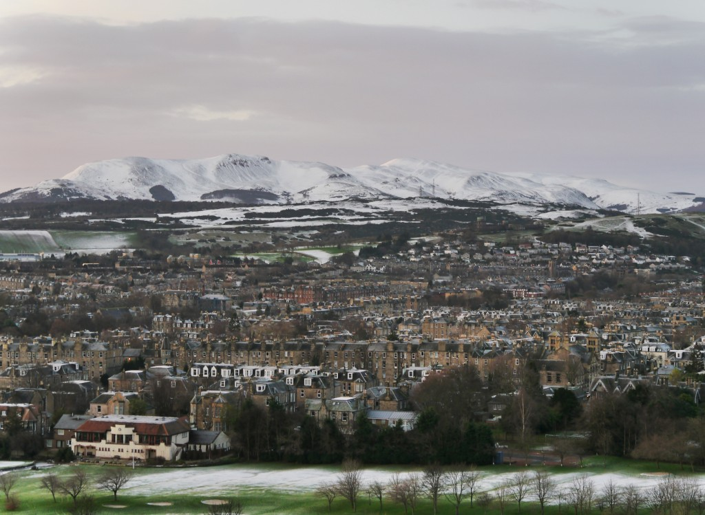Looking south from Holyrood Park