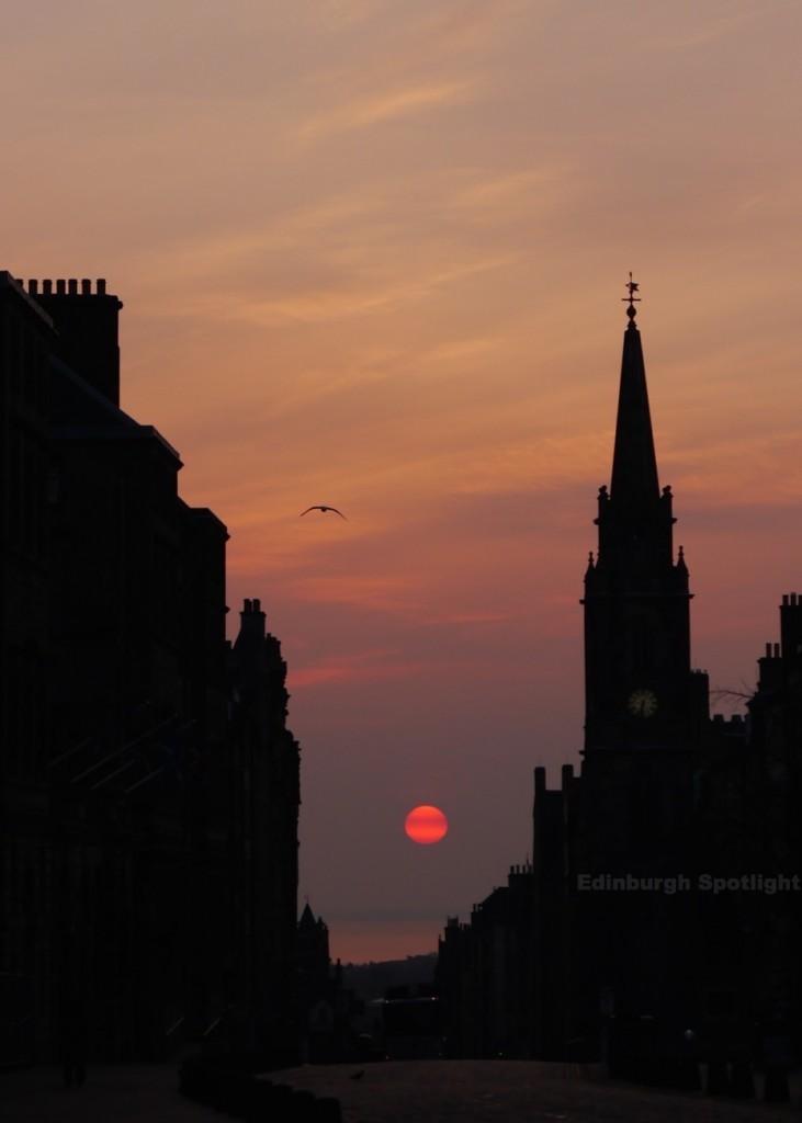 Sunrise on the Royal Mile