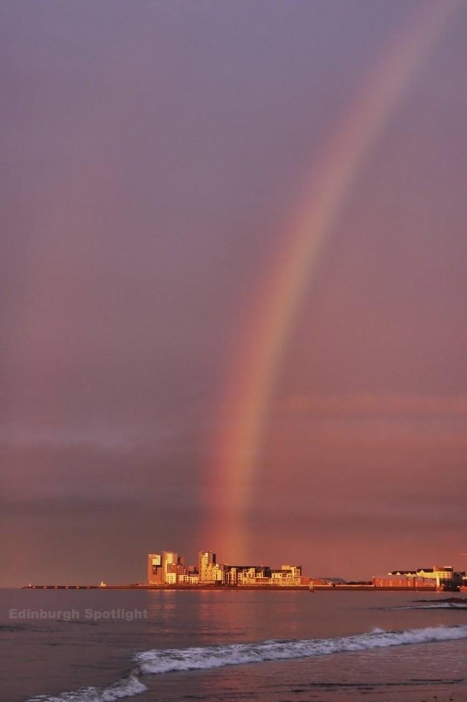 Rainbow over Leith