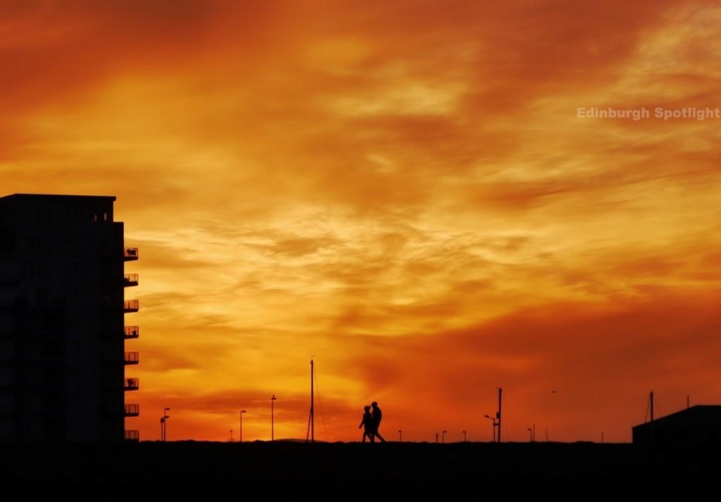Summer sunset at Granton Harbour