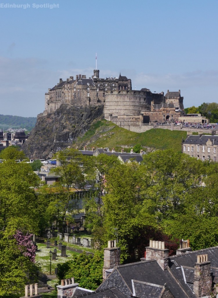 Edinburgh Castle from the roof of the National Museum