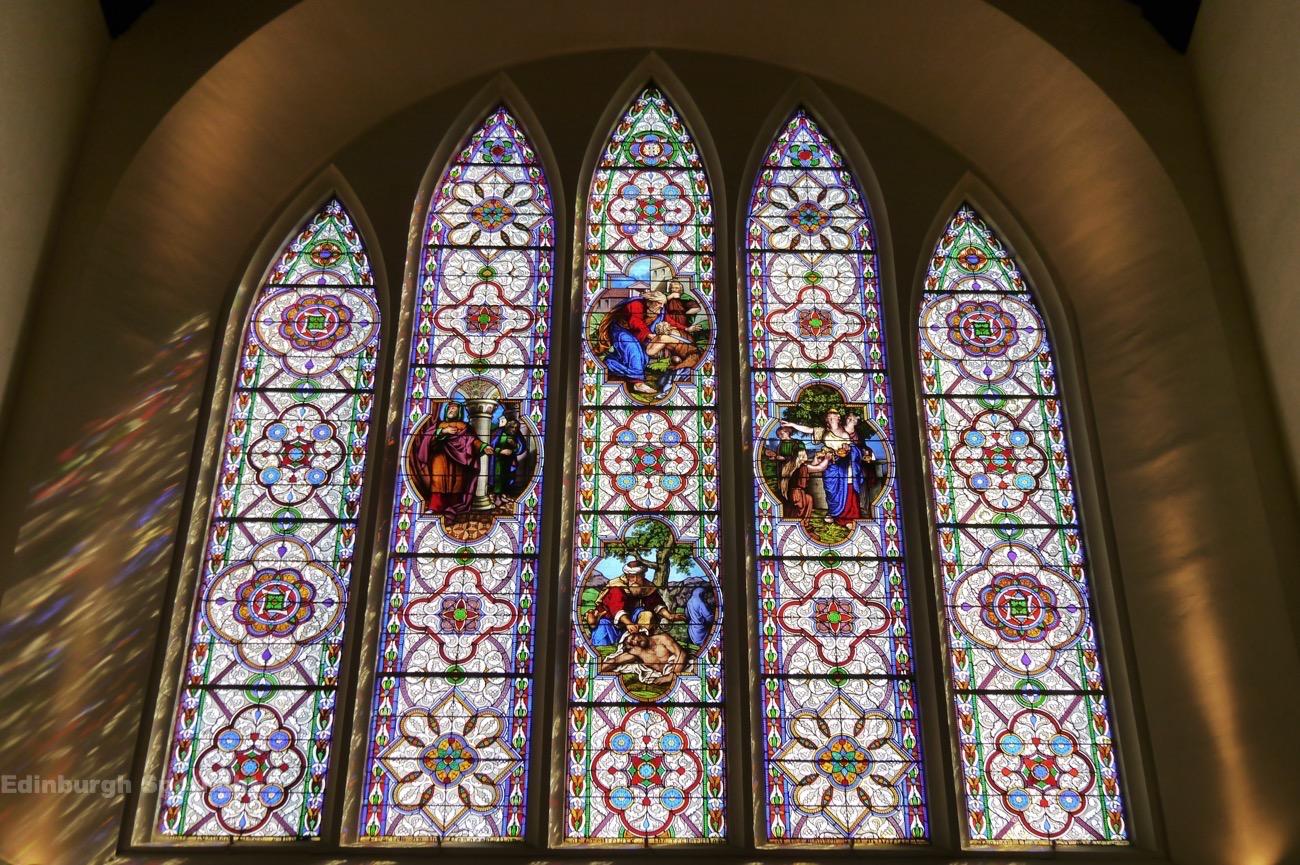 Stain glass windows in Greyfriars Kirk