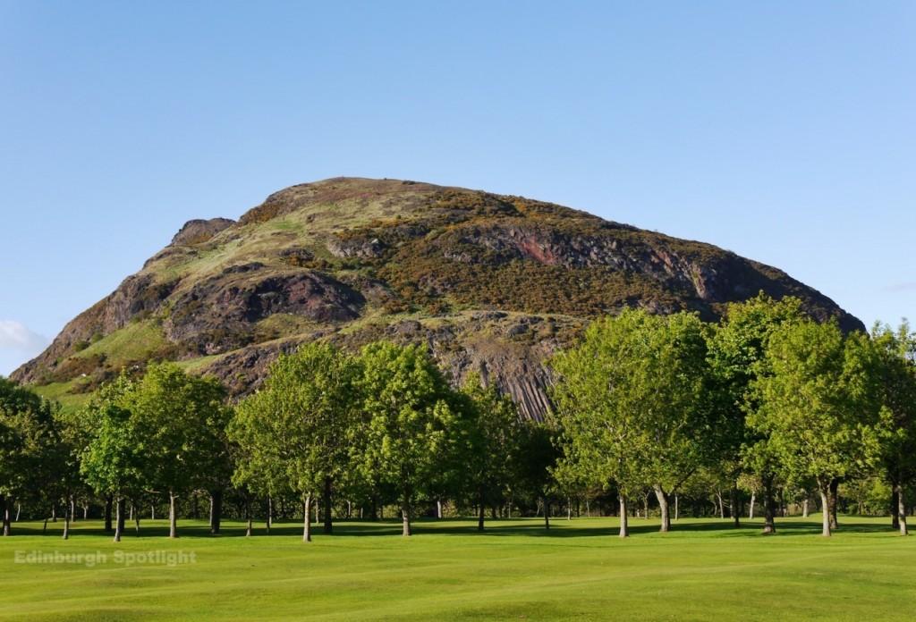 Arthur's Seat from Prestonfield Golf Club
