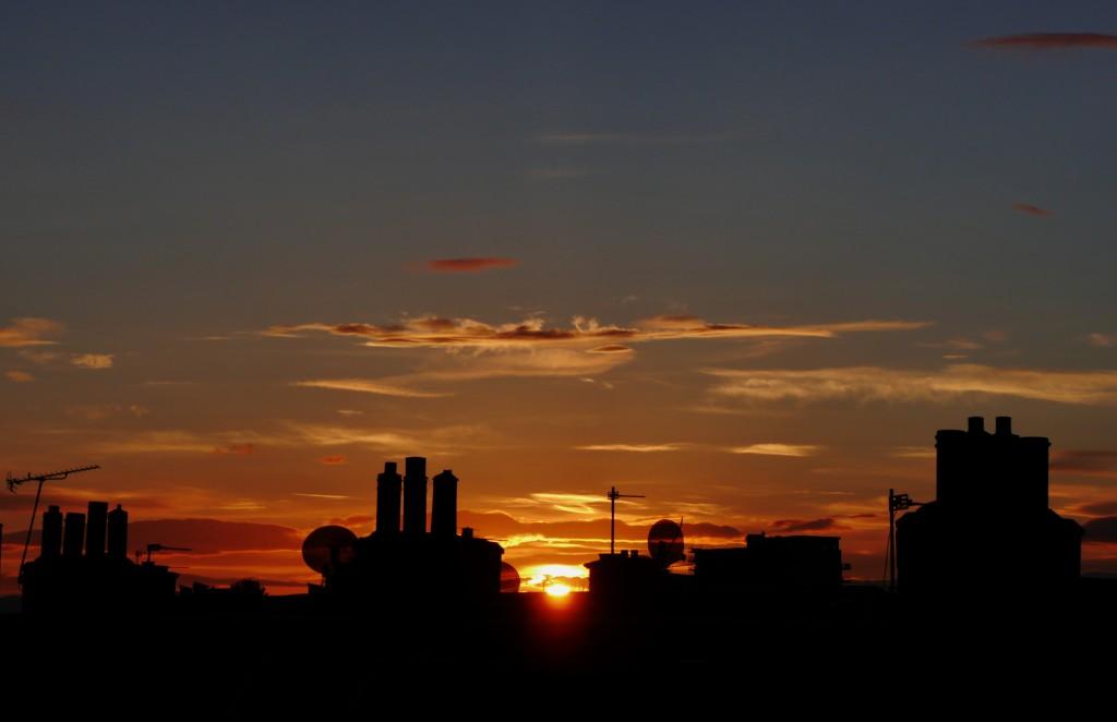 Sun setting at 10pm