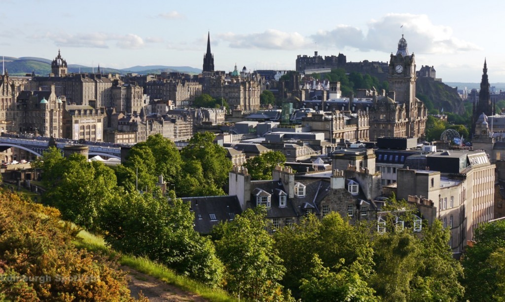 View from Calton Hill in the evening