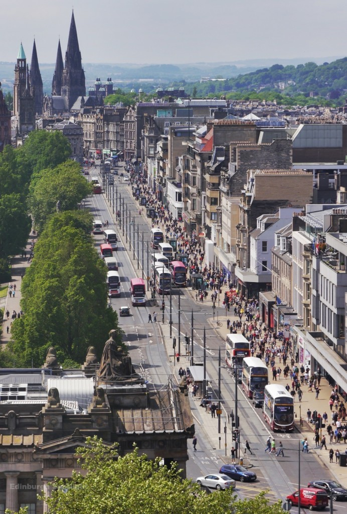 View down Princes St from the Scott Monument