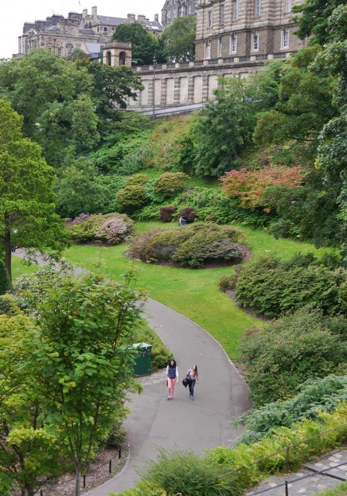 Rear of Princes Street Gardens