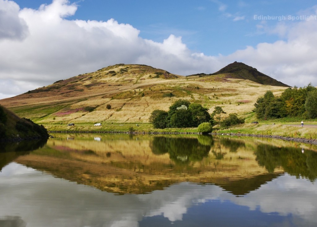 Reflections in Dunsapie Loch
