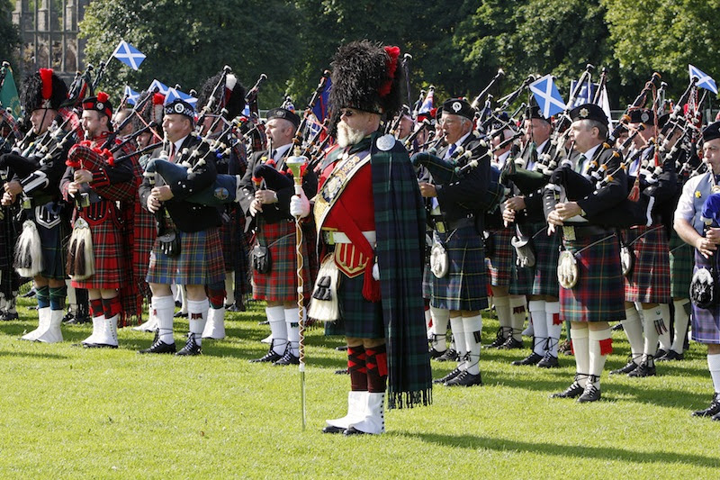 The pipers will play in Holyrood Park. Credit: Pipefest