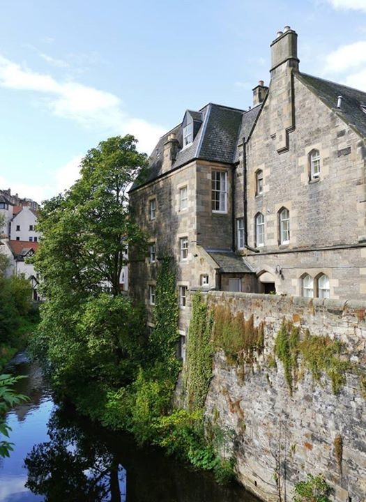The Water of Leith runs through Dean Village