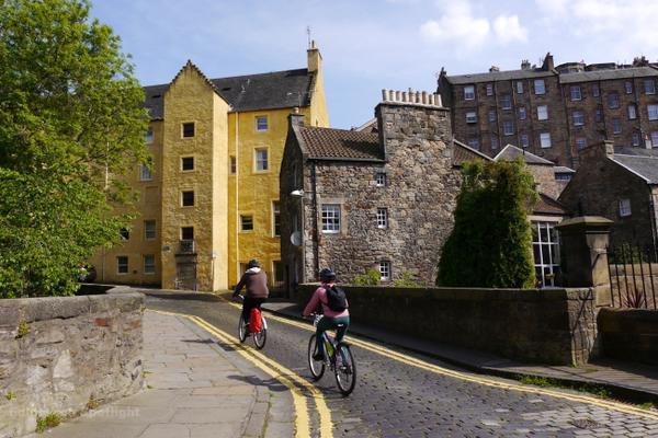 Cycling in Dean Village
