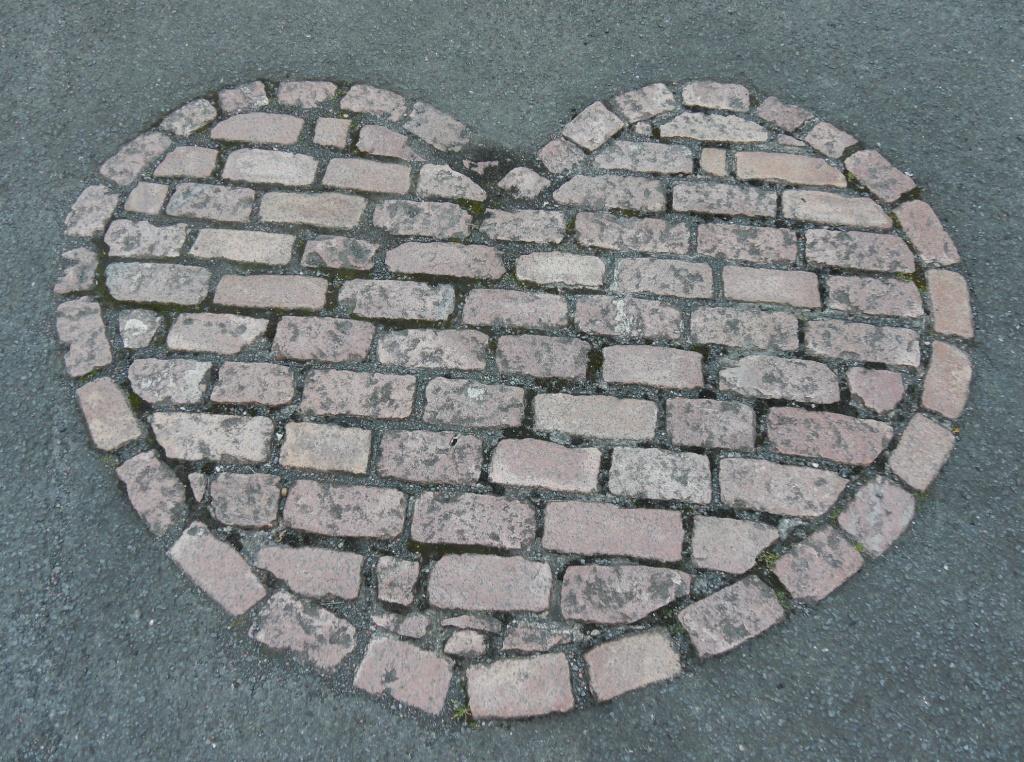 A cobbled heart