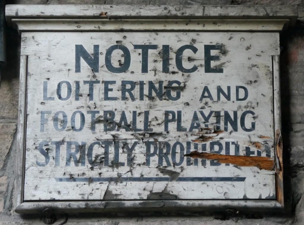 Notice in Dean Village