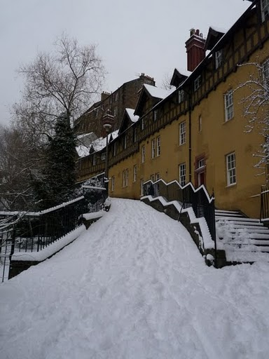Dean Village in the winter