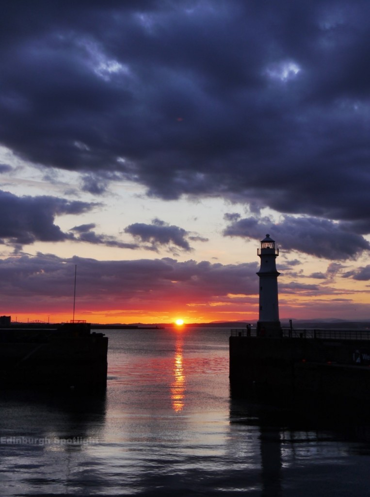 Newhaven sunset, Monday 17th August