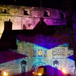 Saltire on Edinburgh Castle