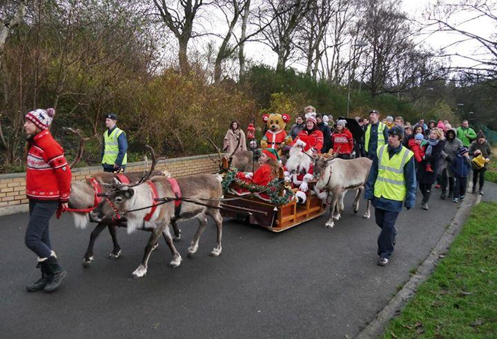 Santa in Inverleith Park