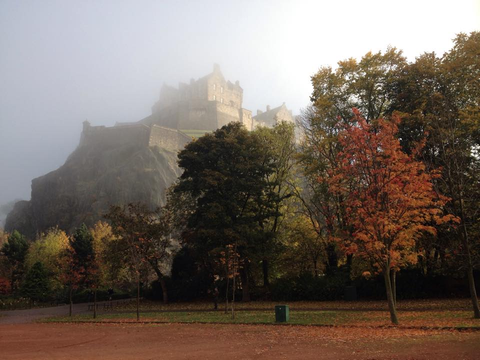 Edinburgh Castle about to be engulfed by fog