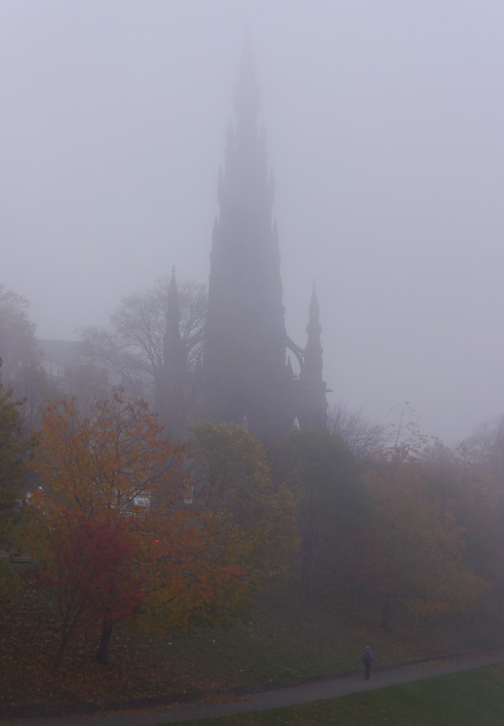 A foggy East Princes Street Gardens