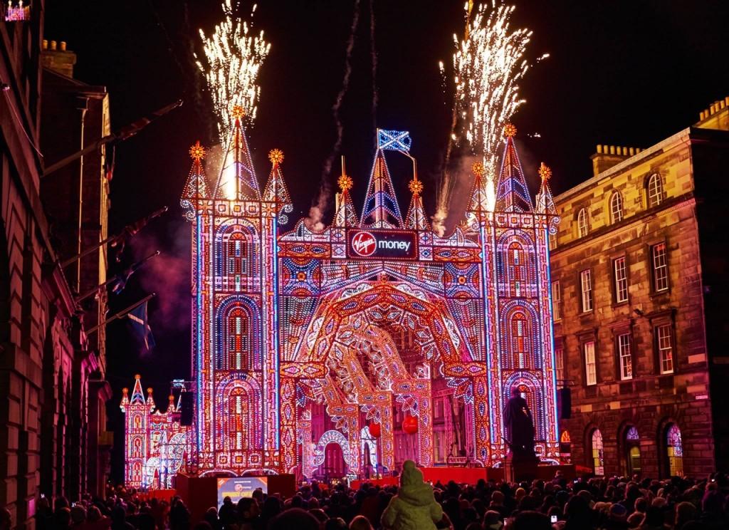 Edinburgh Video Of Virgin Money Street Of Light Royal Mile Edinburgh Spo