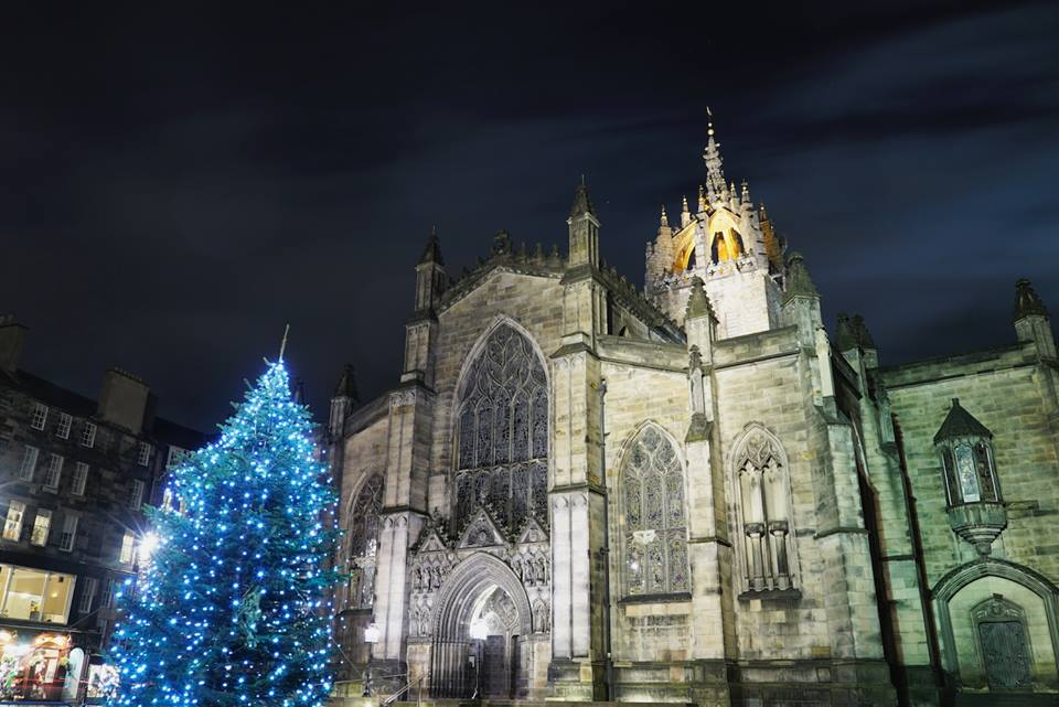 St Giles' Cathedral at night