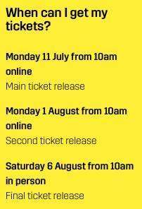 Ticket dates