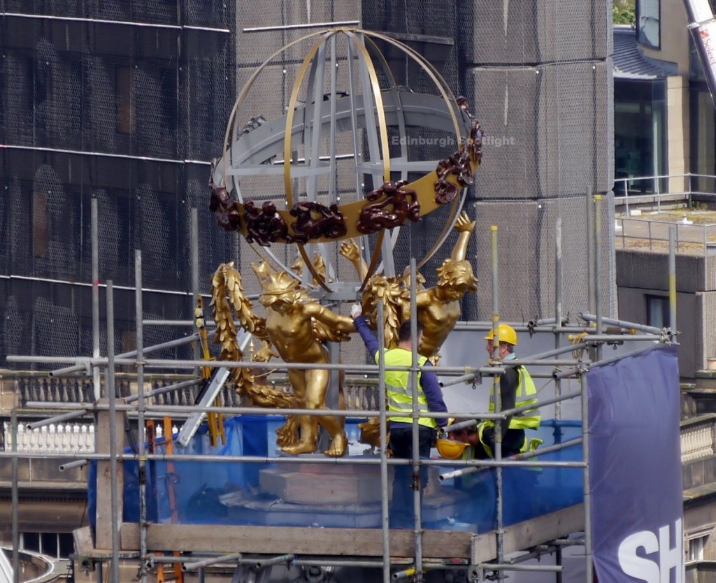 Finishing touches to the RW Forsyth Sphere