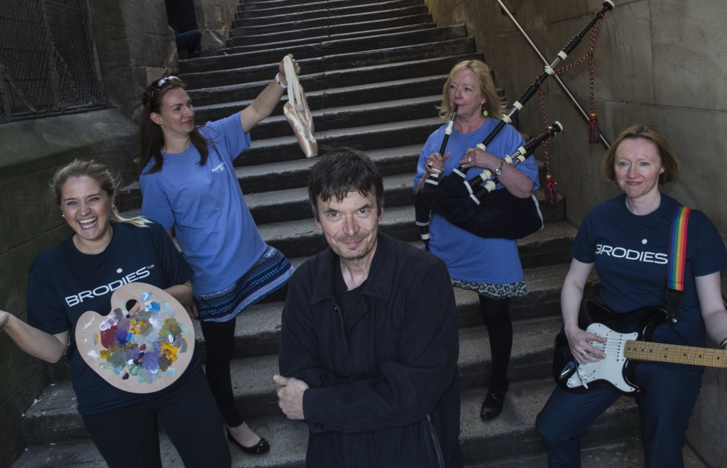 Maggie's Centres - Ian Rankin is launching Maggie's Culture Crawl and offering places on an exclusive Rebus tour of Edinburgh with himself as an incentive. Pic shows l to r: Chloe Richardson, Brodies. Amy Robertson, Maggie's Centres. Ian Rankin. Anne MacDonald, Maggie's Centre visitor. Christine O'Neill, Chairman of Brodies. Credit: Ian Jacobs Photography