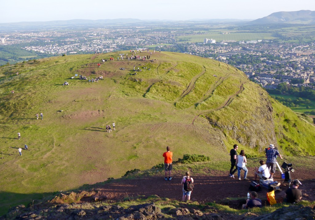Filming on Arthur's Seat