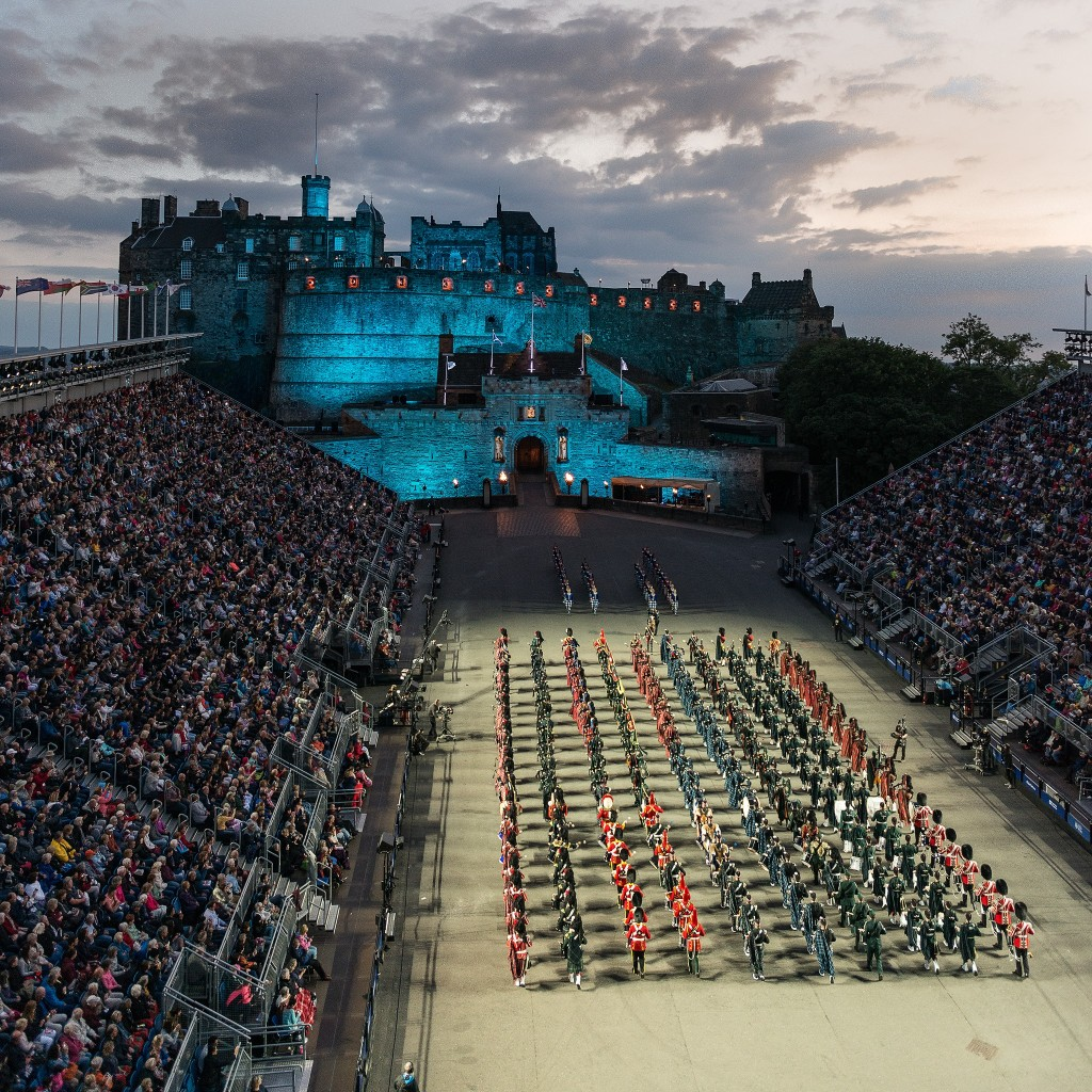 The Massed Pipes and Drum open the 2016 Tattoo